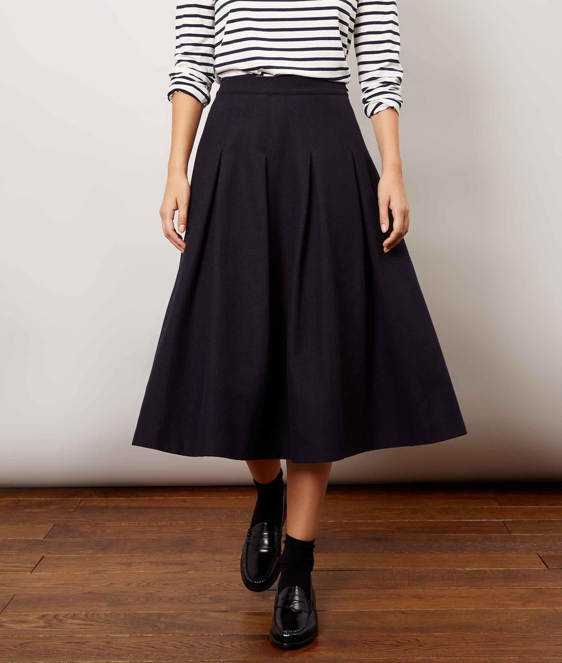 Navy Checky Skirt