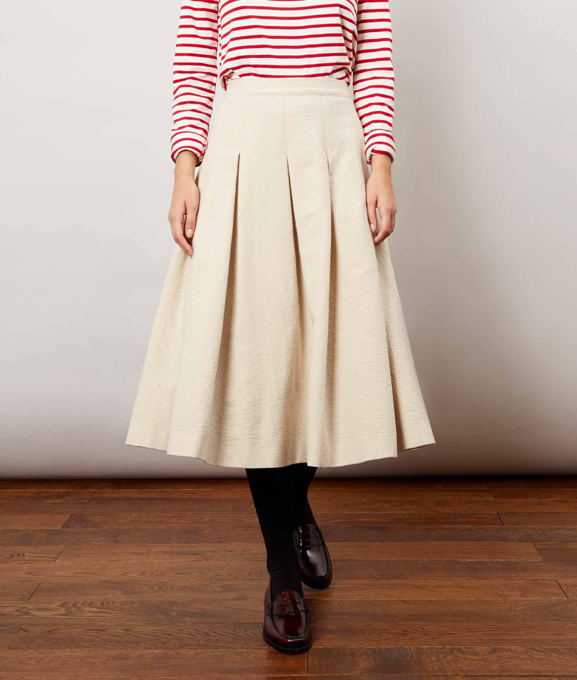 Oatmeal Checky Skirt