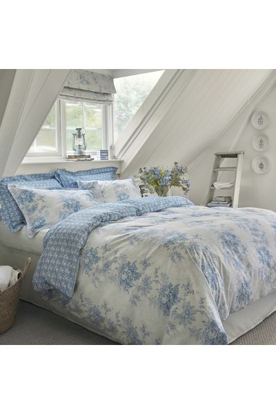 Charlotte Cornflower Double Duvet Cover Cabbages Amp Roses