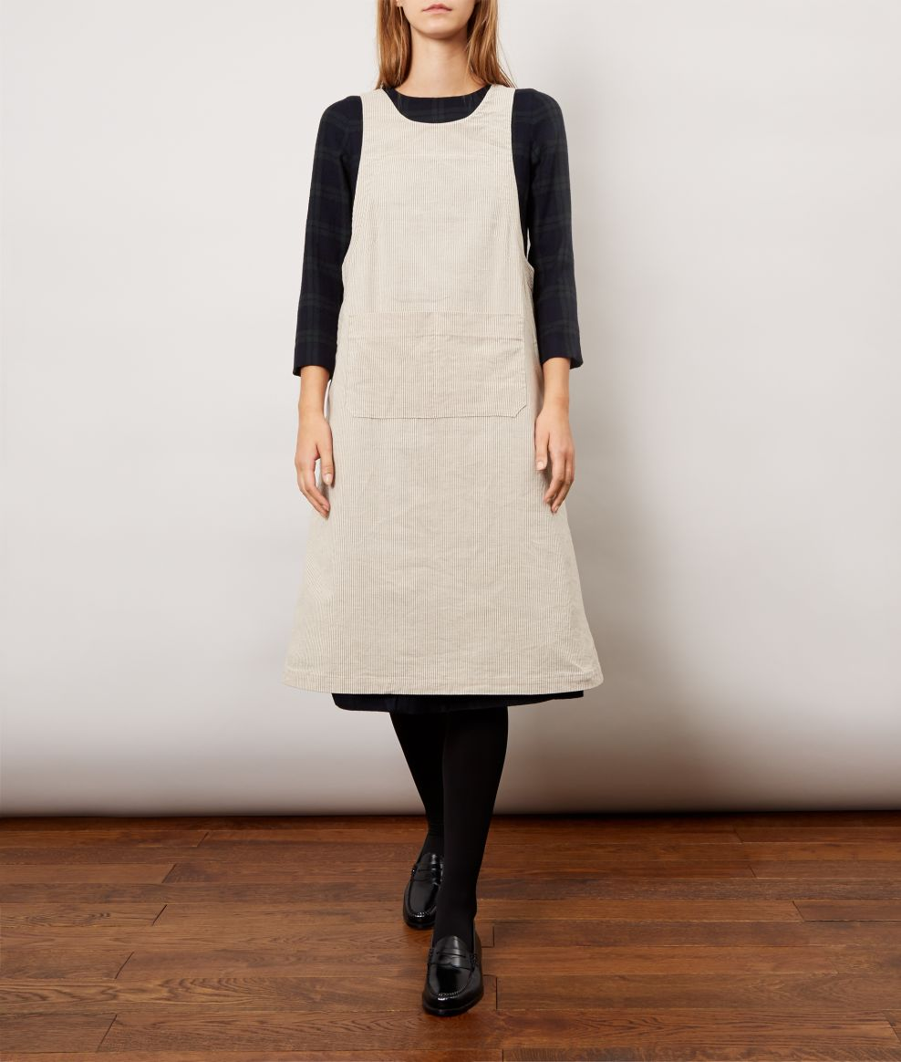 Oatmeal Pini Apron Dress