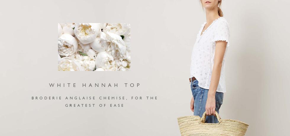 C&R SS17 White Hannah Top