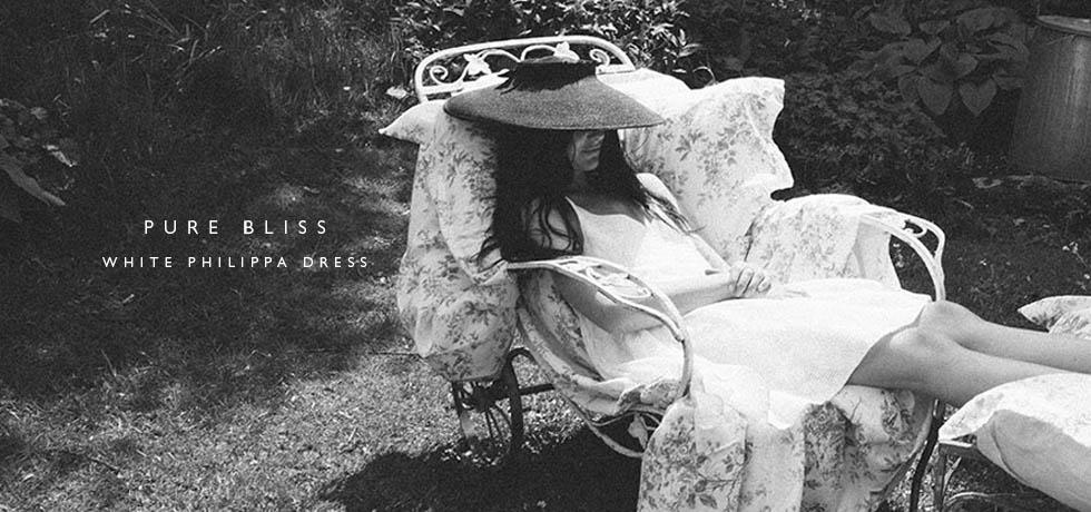 C&R White Philippa Dress